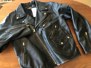 Rrl Riders Jacket Size Xl Double Leather