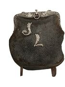 Sterling And Ostrich Victorian Purse
