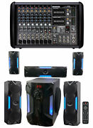 Mackie Ppm608 8 Channel 1000w Pro Active Powered Mixer+free Home Theater System
