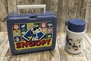 Rare Must See Vintage Snoopy Joe Cool And The Peanuts Gang Lunchbox And Thermos