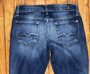 Seven 7 For All Mankind Gwenevere Womenand039s Size 26 Straight Blue Denim Distressed