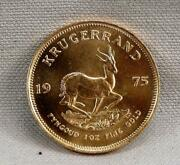 1975 South African Krugerrand 1 Troy Ounce Gold Coin Free Ship Better Date