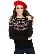 Charter Club Nwt Size M Family Christmas Sweater Pullover Round Neck Reindeer