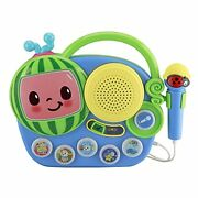 Cocomelon Toy Singalong Boombox With Microphone For Toddlers, Built-in Music