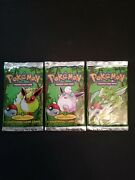 1999 1st Edition Jungle Booster Sealed Pack Art Set Scyther, Flareon, Wigglytuff