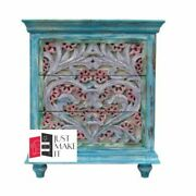 Made To Order Indiansmall Colorful Indian Chest Of Drawers With Solid 75x40x90