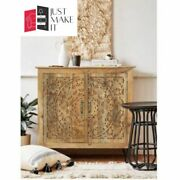 Made To Order Boho Furniture Carved Chest Of Drawers On Metal Legs 90x40x90