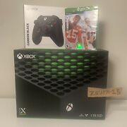 Xbox Series X Bundle Console Carbon Black Controller And Madden 22 Factory Seal