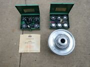 Jacobs Spindle Nose Lathe Chuck 91-a6 With Complete Rubber Flex Collet Sets