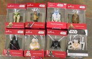 Hallmark Ornaments Star Wars Lot Of 8 New In Boxes