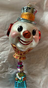 Radko Christmas Ornaments Vintage Snow Float Large Snowman Head With Lower