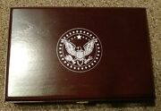 American Heritage Braided Hair Wooden Box 1851 - 1864 Four Coin Large One Cent