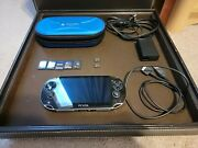Sony Playstation Vita Black Gaming Handheld System With Games And Memory Cards