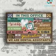 Dentist Poster Canvas We Are Dental Assistants Protecting Teeth And Gums Wall Ar