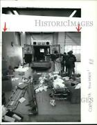 Press Photo Medical Equipment Cleaned Out Of Ambulance At Burlington Fire House