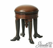 L53308 Theodore Alexander Bronze Boot Foot Leather Seat Stool 4421-001 New