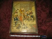 Antique 19c Litho On 35-pc Wood Block Picture Puzzle Circus  Rare / Museum Qlty