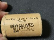 1965 Royal Bank Of Canada 50 Cent Silver Roll Unopened Uncirculated.