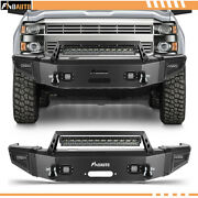 Front Bumper For 2015-19 Chevrolet Silverado 2500 3500 Hd W/ 4 Leds And1 Light Bar