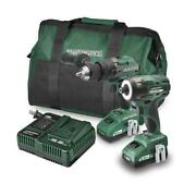 20-volt Brushless Cordless 1/2 Hammer Drill And 1/4 Impact Driver Combo Kit