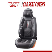 Universal Front And Back Car Seat Covers Auto Interior Accessories Full Set Grey