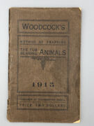 1915 Woodcockand039s Trapping Fur Bearing Animals Coudersport Pa Skunk Bear Mink Wolf