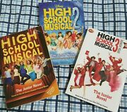 Lot 3 Disney High School Musical 1 2 3 Paperback Books Novels Of The Movies