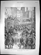 Old Print Arrival N S Wales Lancers Cstream Guards Waterloo Station 1899 19th