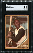 Roberto Clemente 1962 Topps 10 Sgc 6 Great Eye Appeal / Well Centered