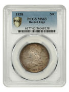 1838 50c Pcgs Ms63 Reeded Edge Great Type Coin - Bust Half Dollar