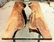 Clear Epoxy Table, Handmade Wooden Table Epoxy Resin Dining Coffee River Tables