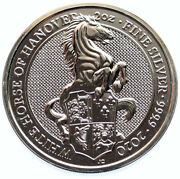 2020 Great Britain Elizabeth Ii Hanover Horse Proof Silver 5 Pounds Coin I96610
