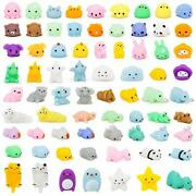 72 Pcs Kawaii Squishies, Mochi Squishy Toys For Kids Party Favors