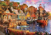 Educa Jigsaw Harbour Landscape Art 5000 Piece Puzzles Rare New Sealed In Stock