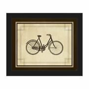 Vintage Cycleand039 Brown Canvas Framed Wall Art