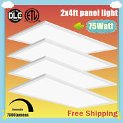 75w Led Flat Panel Light 2x4ft Office/kitchen Ultra-thin Ceiling Lights Dimmable