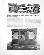 Antique Print French Furniture Period Louis Xiv Part I Cofferpages 1905