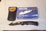 Cold Steel Trail Guide Plus Carbon V Lockback Guthook Blade Knife Made In Usa