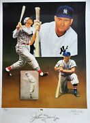 Johnny Mize - Lithograph Signed Circa 1989 Co-signed By Christopher Paluso
