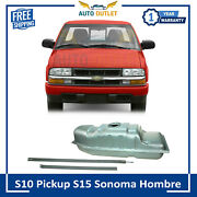 New Fuel Gas Metal Tank With Straps 18 Gallon For S10 Pickup S15 Sonoma Hombre