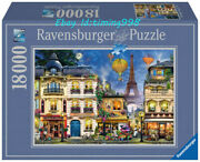 Jigsaw Night View Eiffel Tower 18000 Piece Puzzle Relief Rare New Sealed Stock