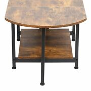 Folding Side Table Side Table Easy To Install Brown Coffee Table Folding Home