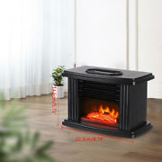 Portable Electric Fireplace Heater Stove 1000w With Realistic Flame Effect 110v