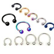 2 Pcs Hot Stainless Steel Nostril Nose Ring Sircular Ball Earring Body Jewelry