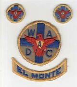 Set Of 4 Ww 2 Womenand039s Ambulance And Defense Corps Of America Patches Inv R024