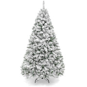 Best Choice Products 9ft Premium Holiday Christmas Pine Tree W/ Snow Flocked Bra
