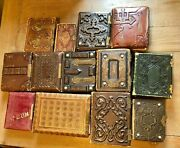 Lot Of 13 Antique Victorian Photo Storage Albums For Cdv And Tintypes Empty 1860s