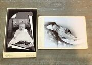 Post Mortem And Memorial Photo Set - Same Child Or Siblings New Hampshire 1890s