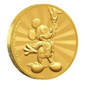 """Mickey Mouse Friends Carnival Gold Coin 1/4 Oz """"mintage Just 100 Worldwide"""