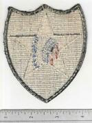 Rare Ww 2 Us Army 2nd Infantry Division Ribbed Weave Gemsco Patch Inv B014